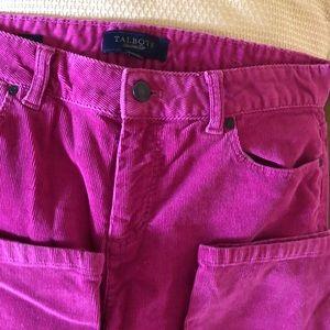 Talbots Size 10 Pink Corduroy Heritage Jeans